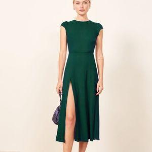 💚NWOT Reformation Gavin Dress Emerald